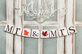 table banners and signs mr and mrs wedding banners sweetheart table signs autumn wedding