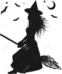 halloween background witch fun character illustration of a witch with halloween background
