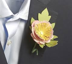 3d floral home decor cricut cartridge peony boutonniere by anna