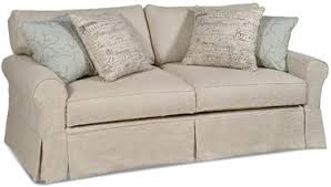 Sleeper Sofa Slip Cover Cottage Furniture Slipcovered Sofas American Country