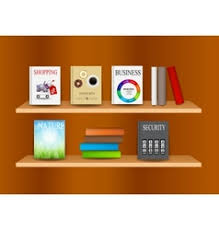 Bookshelf Background Image Bookshelf Royalty Free Vector Image Vectorstock