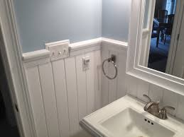 raised panel walls bathroom traditional with chair rail bathroom