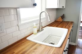 Ikea Kitchen White Cabinets Furniture Appealing Butcher Block Countertops For Kitchen
