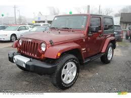 dark red jeep 2008 jeep wrangler sahara 4x4 in red rock crystal pearl 632808