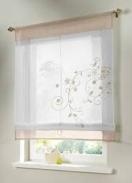 Shabby Chic Voile Curtains Shabby Chic Kitchen Curtains Amazon Com