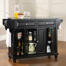 crosley kitchen island crosley cambridge solid black granite top kitchen island hayneedle