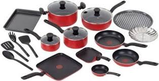 black friday pan set 44 99 reg 100 t fal 20 piece nonstick cookware set at target