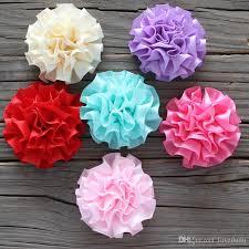 ruffled ribbon diy 5cm flower ruffled ribbon flower hair flower flat back for