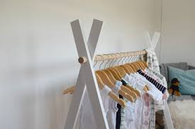 build a clothes for boys diy kids teepee clothing rack