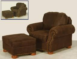 All Leather Chair And Ottoman Set A2304 01 09 3 299 00 Bear