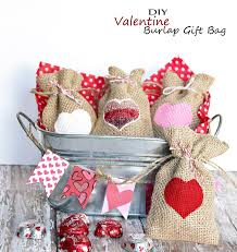 valentine burlap gift bag u2013 easy homemade holiday kid craft diy