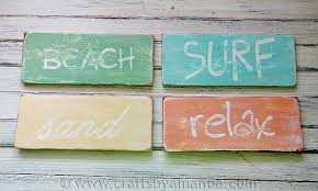 beachy signs beachy weathered wood sign crafthubs