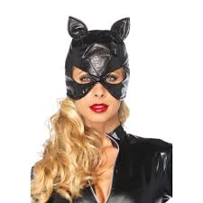 catwoman halloween costume mask faux leather catwoman mask morph costumes uk