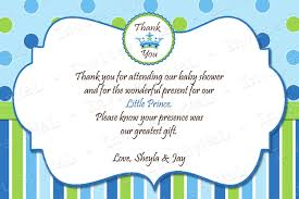 thank you card for baby shower home design ideas