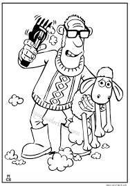 shaun sheep free printable coloring pages 07
