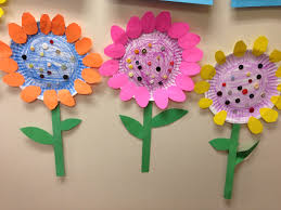 paper plate flowers littlehandsbigplans kids crafts pinterest