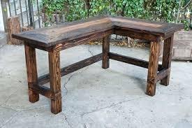 Wood L Shaped Desk Wood L Shaped Desk Rustic U Office Interque Co