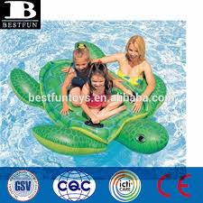 Floating Dog Bed Inflatable Turtle Swimming Pool Floating Rider Pool Water Bed
