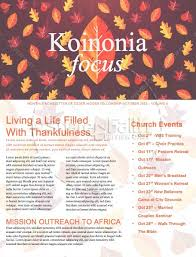 thanksgiving leaves church newsletter template template