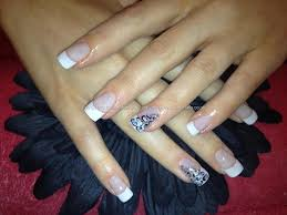 white tip acrylic nail designs white tip nails with design biz