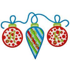 applique only ornament trio applique