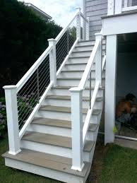 Back Porch Stairs Design Porch Stairs The Steel Cable Railing Is A Traditional Modern