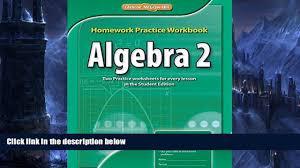 audiobook algebra 2 homework practice workbook merrill algebra 2
