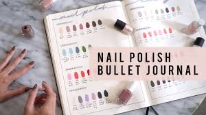 bullet journal ideas nail polish library collection ann le