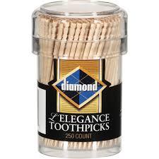 diamond l u0027elegance toothpicks 250 count walmart com