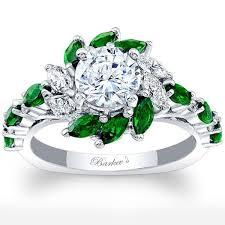 engagement rings green images Barkev 39 s 14k white gold green tsavorite diamond halo jpg