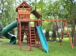 swingset u0026 toy warehouse outdoor wooden play set u0026 trampoline
