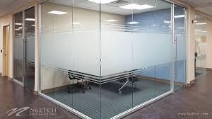 distraction markers on glass panels and doors in commercial space