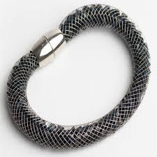 crystal mesh bracelet images Black crystal mesh bracelet with magnetic clasp jpg