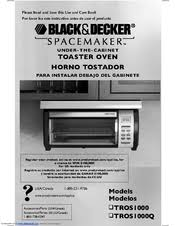 Black And Decker Spacemaker Toaster Oven Black U0026 Decker Spacemaker Tros1000 Manuals