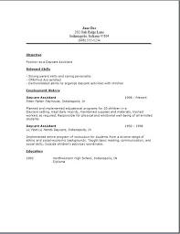 daycare resume exles resume for childcare daycare resume exles child care assistant