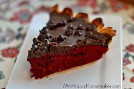 red velvet fudge pie u2013 mrs happy homemaker