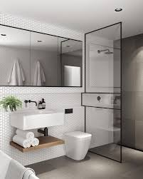 interior design bathrooms contemporary refreshing grey bathroom with elements of timber