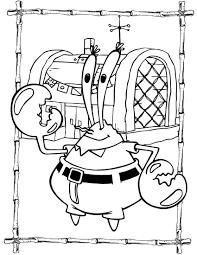 spongebob mr krabs coloring pages getcoloringpages com