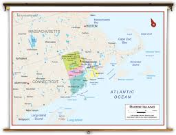 Rhode Island Map Rhode Island State Political Classroom Map From Academia Maps