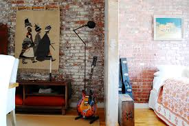 painting brick walls bedroom industrial with brick wall exposed
