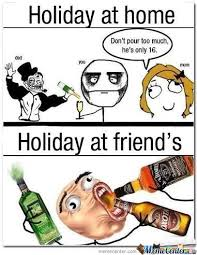 Funny Holiday Memes - holiday with family vs friend by memeindo meme center