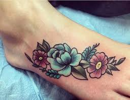 flower foot tattoo tattoos p pinterest flower foot tattoos