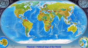 Physical Maps Physical Map Of World