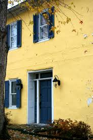 yellow house blue door white trim and shutters because i can u0027t
