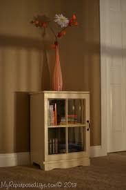 Small Cabinets With Glass Doors Repurposed Nightstand With Repurposed Window Door My