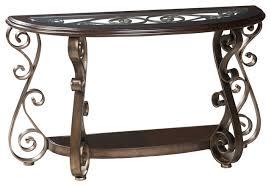 Half Moon Console Table Standard Furniture Bombay Half Moon Glass Top Console Table