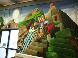 youth room revamp minecraft leixlip style leixlip youth and minecraft leixlip style mural