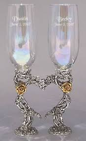 wedding glasses heart wedding glasses