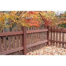 veranda 3 1 2 ft h x 6 ft w heartwood gothic composite fence