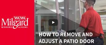 Screen For Patio Door How To Remove A Patio Door Screen Milgard Milgard